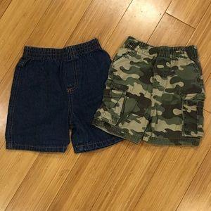 Lot of 2 Garanamals baby boy shorts